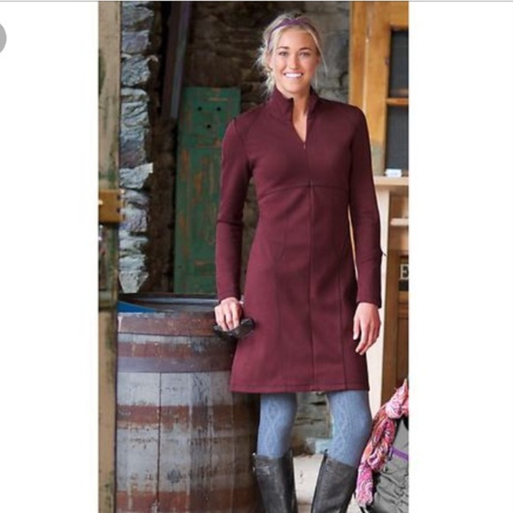 3958cf459e Athleta Dresses   Skirts - Athleta red Cassidy Ponte long sleeve zipper  dress